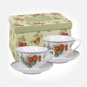 Queens Classic Virginia Strawberry 2 cups & Saucers