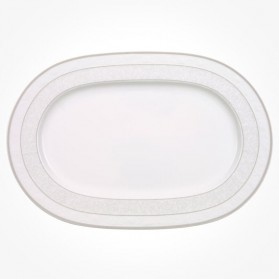 Gray Pearl Oval Platter 35cm