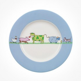 Farm Animals Children Flat Plate 22cm