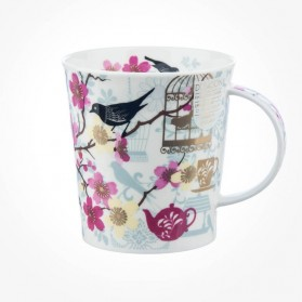 Dunoon Mugs Lomond Tea Garden White