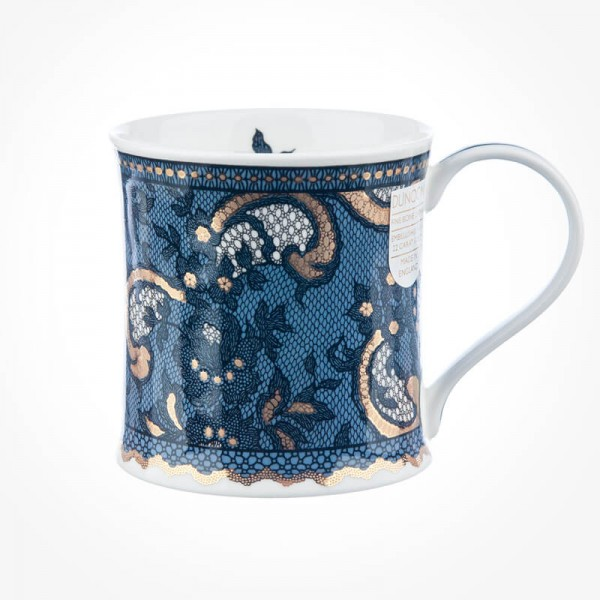 Dunoon Mugs Wessex Gilded Lace Steel