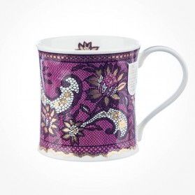 Dunoon Mugs Wessex Gilded Lace Pink