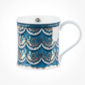 Dunoon Mugs Wessex Gilded Lace Turquoise