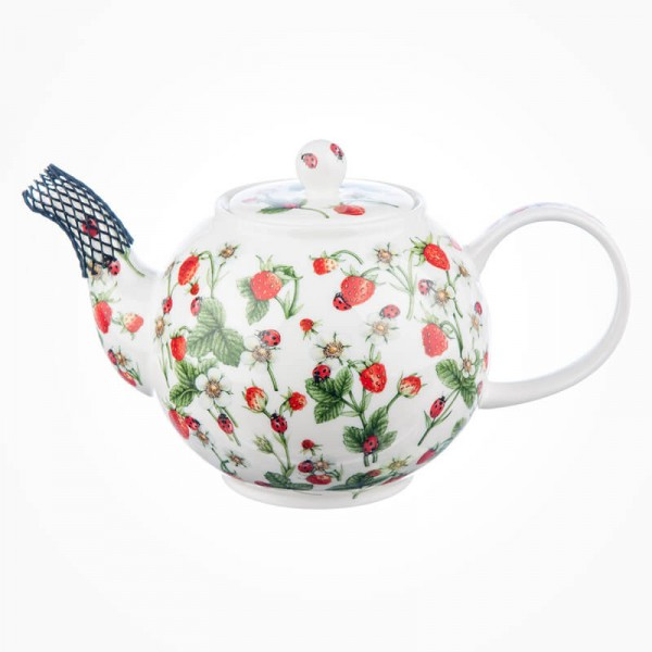 Dunoon Dovedale Strawberry Large Teapot 1.2L Gift Box