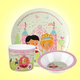 Little Rhymes Cinderella 3 Piece Melamine Set