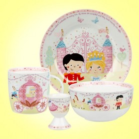 Little Rhymes Cinderella 4 Piece Breakfast Set