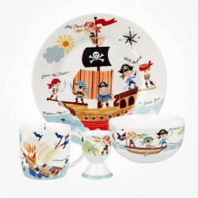 Little Rhymes Pirates Seven Seas breakfast Set