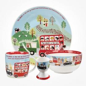 Little Rhymes Wheels On The Bus 4 piece Breakfast Set