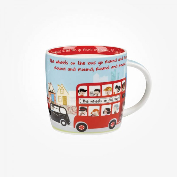 Little Rhymes Wheels on the Bus Mug In Hatbox