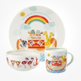 Noah's Arc 3 piece breakfast set