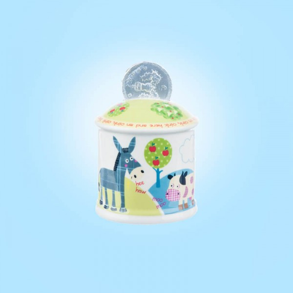 Little Rhymes Old McDonald Money Box in Hatbox