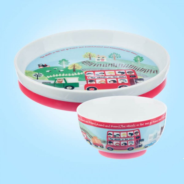 Little Rhymes Wheels on the bus Silicone footed Set