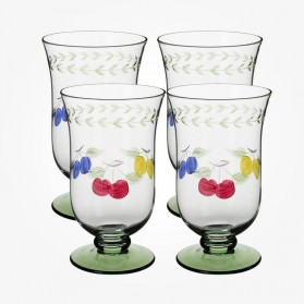 French Garden Ice Tea tumbler set of 4 15cm