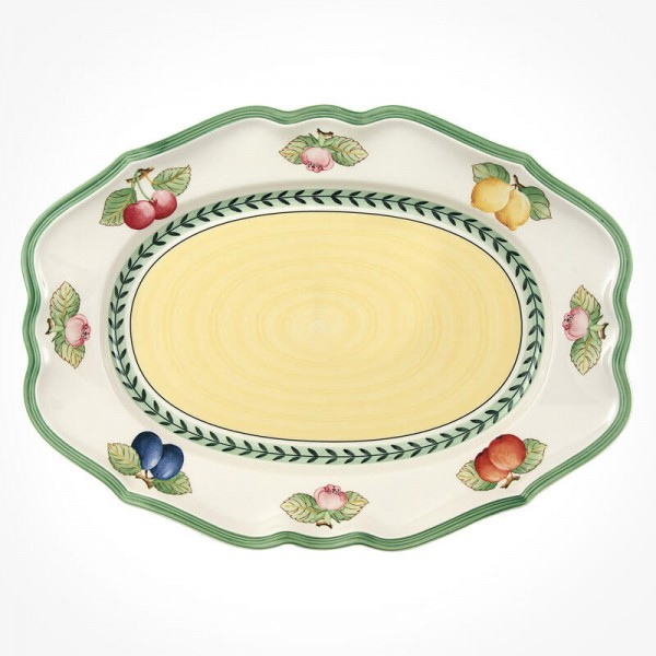 French Garden Oval platter 37cm
