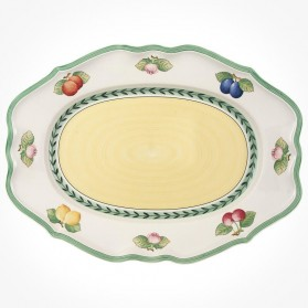 French Garden Oval platter 44cm