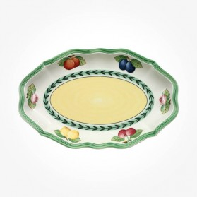 French Garden Pickle dish, Sauceboat saucer