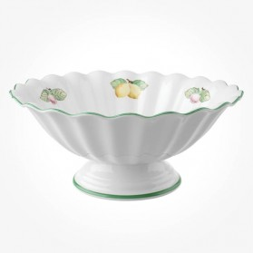 French Garden Salad Bowl on Stand 31cm