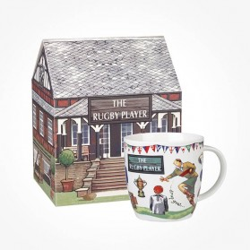 Churchill At Your Leisure The Rugby Player mug in Giftbox