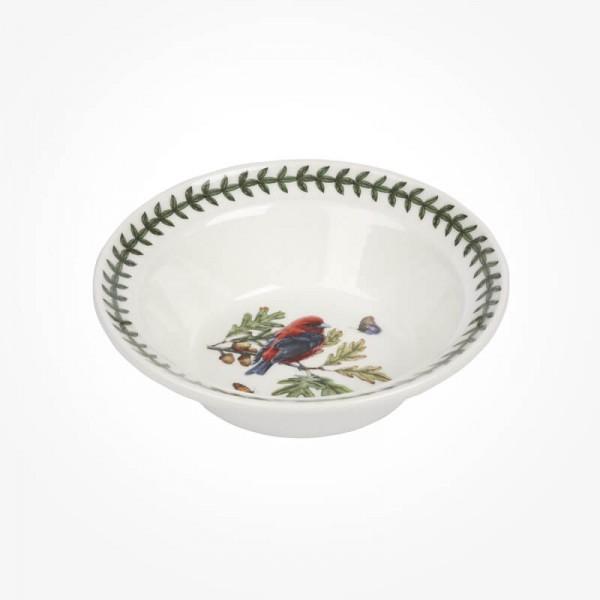 Portmeirion Botanic Garden Birds 6 inch Oatmeal Bowl Scarlet Tanager