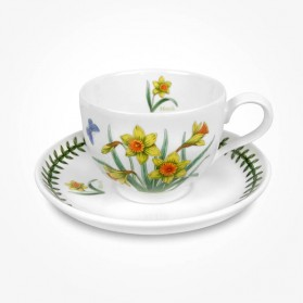 Portmeirion Flower of the Month March Teacup Saucer Giftboxed