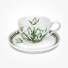 Portmeirion Flower of the Month January Teacup and Saucer Giftboxed