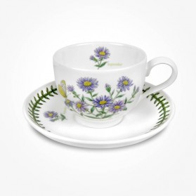Portmeirion Flower of the Month September Teacup and Saucer Giftboxed