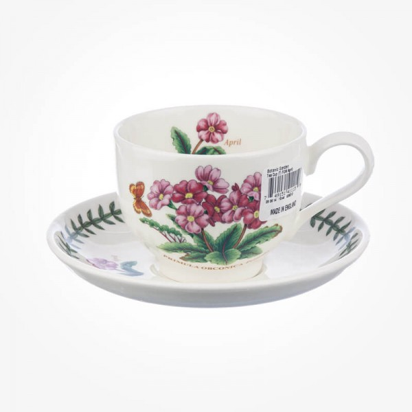 Portmeirion Flower of the Month April Teacup and Saucer Giftboxed