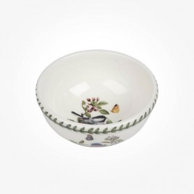 Portmeirion Botanic Garden Birds 5.5 inch Fruit Salad Bowl Chickadee