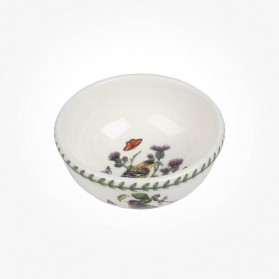 Botanic Garden Birds 5.5 inch Fruit Salad Bowl Lesser Goldfinch