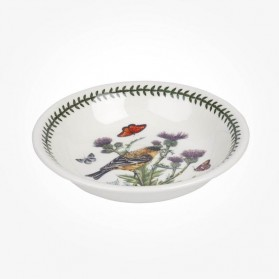 Portmeirion Botanic Garden Birds 8 inch Pasta Bowl Lesser Goldfinch