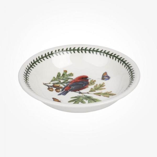 Portmeirion Botanic Garden Birds 8 inch Pasta Bowl Scarlet Tanager