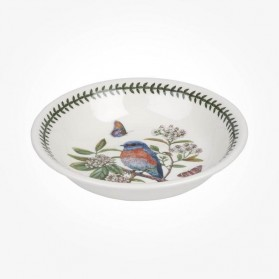 Portmeirion Botanic Garden Birds 8 inch Pasta Bowl West Bluebird