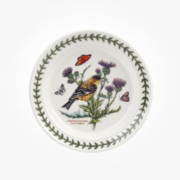 Portmeirion Botanic Garden Birds 6 inch Plate Lesser Goldfinch