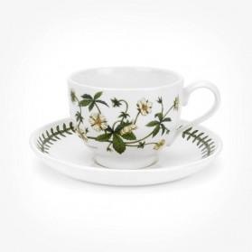 Portmeirion Botanic Garden Teacup/Saucer (T) New Cinqufoil