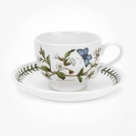 Portmeirion Botanic Garden Breakfast Cup & Saucer (T) White Campion