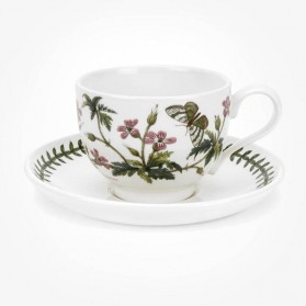 Portmeirion Botanic Garden Breakfast Cup & Saucer (T) Herb Robert