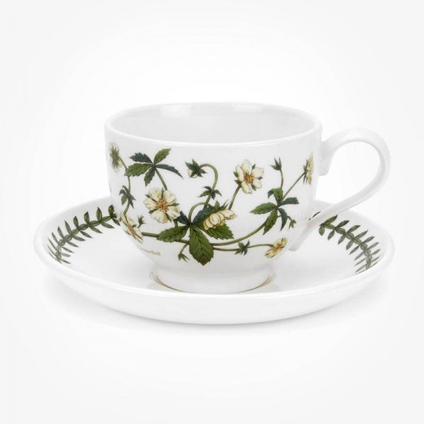 Portmeirion Botanic Garden Breakfast Cup & Saucer (T) Cinquefoil