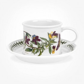 Portmeirion Botanic Garden Breakfast Cup & Saucer (D) Heartsease