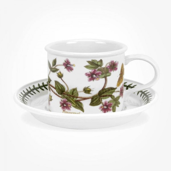 Portmeirion Botanic Garden Breakfast Cup & Saucer (D) Pimpernel