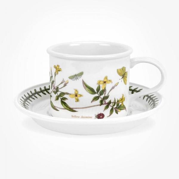 Portmeirion Botanic Garden Breakfast Cup & Saucer (D) Yellow Jasmine