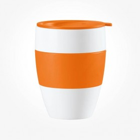 Koziol Aroma To Go Insulated Cup with lid solid orange