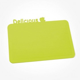 Koziol Happy Boards DELICIOUS Breakfast Board Mustard Green