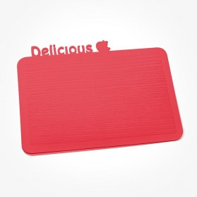 Koziol Happy Boards DELICIOUS Breakfast Board raspberry red