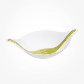 Koziol Salad bowl white with servers 3L LEAR