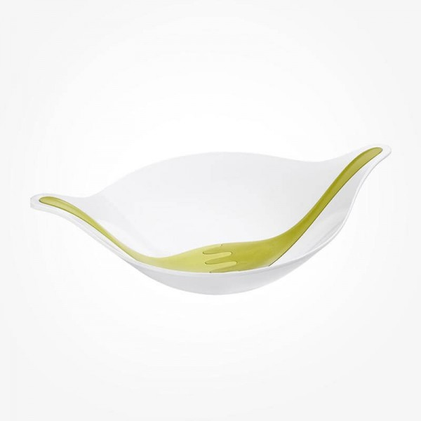 Koziol Salad bowl with servers 3L LEAR white