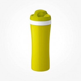 Koziol OASE Water Bottle 425ml mustard green with olive/white