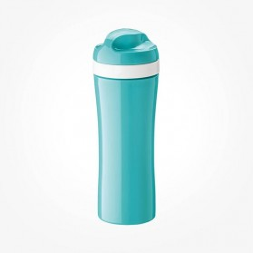 Koziol OASE Water Bottle 425ml OASE turquoise with white