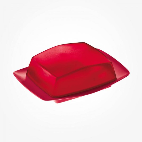 Koziol RIO Butter Dish raspberry red