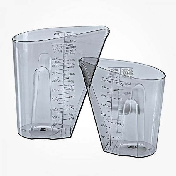 Koziol Dosis Metric Measuring Set 0.5 and 1 Litre anthracite