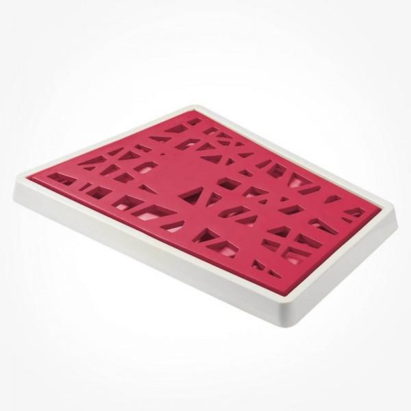 Koziol MATRIX Bread Cutting Board red white